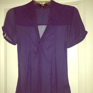 NWOT XOXO Collared short sleeve blouse buttoned